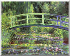 Claude Monet Stretched Water Lilies and Japanese Bridge Repro Canvas Art Print