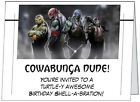 Custom MUTANT NINJA TURTLES BIRTHDAY Party INVITATIONS Personalized