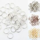 Gold/Silver/Copper/Bronze Plated Metal Double Split Jump Rings 4-12MM For choose