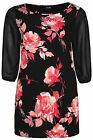 Yoursclothing Womens Plus Size Floral Print Tunic With Chiffon Sleeves