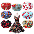 FREE SHIPPING 60s VTG Floral ROCKABILLY A-Line Dresses Retro Party Celeb Skirt ~