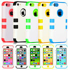 Heavy Duty Dirtproof Shockproof Protective Case Cover for iPhone 5C +Protector