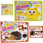 Childrens Easy Knit Your Own Wool Toy Owl or Hedgehog Knitting Craft Art Kit Set