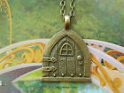 CASTLE FAIRY HOBBIT DOOR BRONZE TONE NECKLACE PENDANT GAME OF THRONES MEDIEVAL