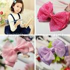 Baby Girls Kids Hair Clip Ribbon Chiffon Bow Kids Satin Bowknot Headband Salon