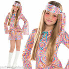 Girls TEEN 1970's 70s Hippy Sequin Disco Diva Fancy Dress Party Costume