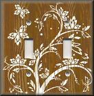 Switch Plates And Outlet Covers - Wood Grain Image Butterfly Tree - Home Decor