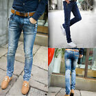 Men's Jeans Tight Stretch Pants Light&Deep Blue W27 W28 W29 W30 W31 W32 W33 W34