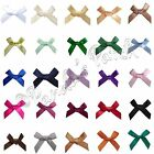7mm Mini Satin Ribbon Bows 10pk 30pk 50pk or 100pk 26 Colours Free UK Post