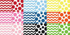 CHEVRON STRIPE / POLKA DOT NAPKINS ~ REVERSIBLE DESIGN, CHOICE OF 9 COLOURWAYS