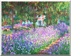 The Artist's Garden in at Giverny by Claude Monet Repro Stretched Fine Art Print