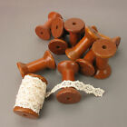 1 Or 10 Lovely Plain Vintage Wooden Spools / Bobbins, Perfect With Lace / Ribbon