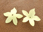 23x25mm 40/80pcs FROSTED YELLOW ACRYLIC LUCITE FLOWER LOOSE BEADS CM4649