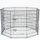 """OxGord 42"""" Tall Wire Fence Pet Dog Folding Exercise Yard 8 Panel Metal Play-Pen"""