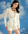 Women Fashion Slim Fit Short Suit Blazer Casual Jacket Coat Long Sleeves Outwear