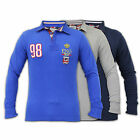 Mens Top Brave Soul Baseball Top Shirt Long Sleeve Collared Neck Casual New