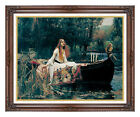 Framed The Lady of Shalott by John William Waterhouse Painting Repro Canvas Art