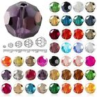 72Pcs 10mm DIY Crystal Beads Rondelle Center Drilled Fat Round Faceted Glass