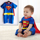 Baby Toddler Boy Unisex Party Romper Costume SUPERMAN Outfit ONE PIECE
