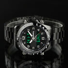 INFANTRY Mens Digital Quartz Wrist Watch Date Chrono Stainless Steel Military