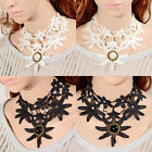 Gothic Exquisite Jewelry Lace Lolita Flower Collar Necklace Faux Pearl