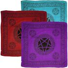 PENTAGRAM SYMBOL  XL Bandana/Scarf Wall Hanging Bikers 3 Colours  Wicca Pagan