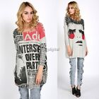 LADIES OVERSIZED BAGGY JUMPER KNITTED WOMENS SWEATER KNIT CHUNKY TOP JUMPERS HOT