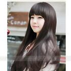 Womens New Style Lady Long Curly Full Human Sexy Hair gift Wig+wigs cap Fashion