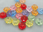 10mm 60/100/../500pcs CLEAR RANDOM ASSORTED ACRYLIC LUCITE FLOWER BEADS TY05555