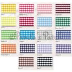 Check Gingham 15mm Polyester Ribbon - Choice of Colours and Length - Free Post