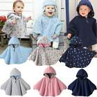 Baby Kids Boys Girls Double-side Use Hoodie Cloak Poncho Jacket Hooded Cape Coat