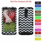 For LG G2 3D B&W Checker Pattern Hard & Rubber Hybrid Rugged Impact Case Cover