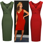 SUMMER BODYCON DRESS WOMENS WORK SKIRT SLIM EVENING PARTY  PENCIL DRESSES 4 SIZE