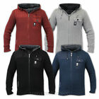 Mens Jackets Crosshatch Knitted Hooded Cotton Zip Sherpa Lined Casual Winter