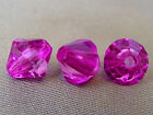 8mm 100/200/300/400/500pcs MAGENTA FACETED ACRYLIC LUCITE BICONE BEADS TY2235