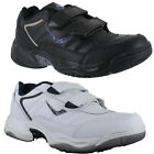 Mens Ascot Murray Black Velcro Casual Shoes Gym Exercise Trainers Sizes 7 to 14
