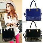 Retro Ladies Women Korean Rivet Tote Shoulder Messenger Studded Handbag Bag K0E1