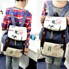 Fashion Women's Canva Travel Satchel Shoulder Bag Backpack School Rucksack 35DI