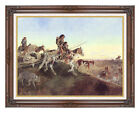 Seeking New Hunting Grounds Charles Marion Russell Western Repro Wall Art Print