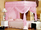4 Corners Post Bed Curtain Canopy Mosquito Net Twin-XL Full Queen Cal King Size