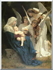 Song of the Angels Virgin Mary Jesus by Bouguereau Repro Stretched Christian Art