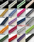 New Pearl Glass Spacer Beads Charms 4mm 6mm 8mm 10mm 12mm For DIY Craft