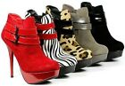 Double Buckle Fashion Stiletto Platform Ankle Bootie Boot Bamboo Colada-73