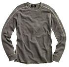 Double Ralph Lauren RRL Mens Grey Thermal Slim Fit LS Henley Crew Shirt Sweater