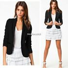 Classic Long Sleeve Lapel OL Women Blazer Suits Outwear Tops Cardigan S-XXL N4U8