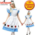 I92 Alice in Wonderland Ladies Disney Fancy Dress Party Card Halloween Costume