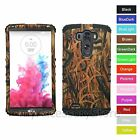 For LG G3 Dry Real Tree Branches Design Camo Hybrid Rugged Impact Case Cover
