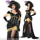 CL6 Womens  Saloon Madame Can Can Wild West Halloween Adult Costume