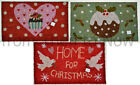 Gisela Graham Christmas Xmas Coir Doormat Door Mat Rubber Back Chic & Shabby