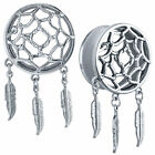 Dreamcatcher Tunnels - Surgical Steel - Pair Dangle Plugs - 2G - 1""